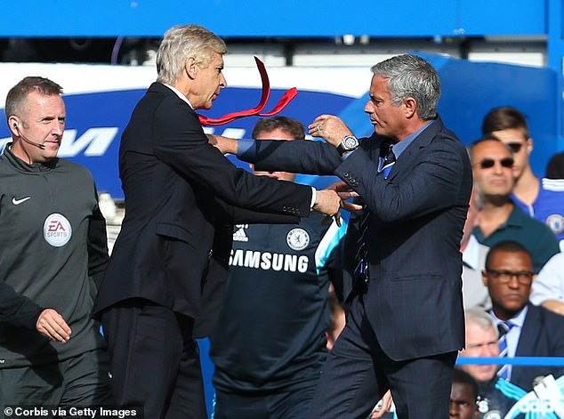 Wenger also clashed with Jose Mourinho, famously pushing him during a defeat to Chelsea. In the documentary the Frenchman admits that the job made him 'inhuman'