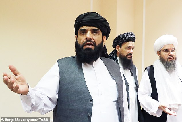Long-time Taliban spokesman Suhail Shaheen (pictured) is among the speakers