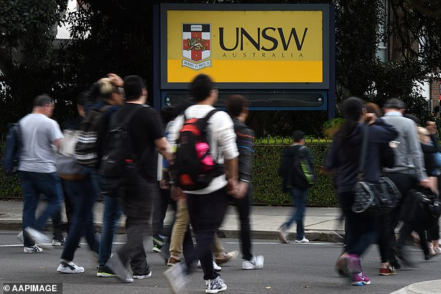 University of New South Wales said security staff would check students proof of vaccination