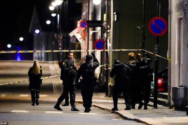 Officers have cordoned large areas of Kongsberg, a municipality of around 28,000 people in southeastern Norway, where at least five people were killed and more injured in an attack on Wednesday