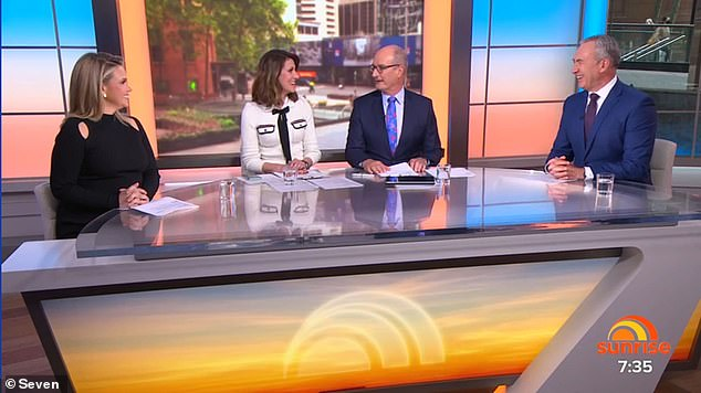 Debate: The 'correct' pronunciation of IKEA blew the minds of the Sunrise team, who on Tuesday declared it 'won't catch on' in Australia. Pictured (L-R): Edwina Bartholomew, Natalie Barr, David 'Kochie' Koch and Mark Beretta