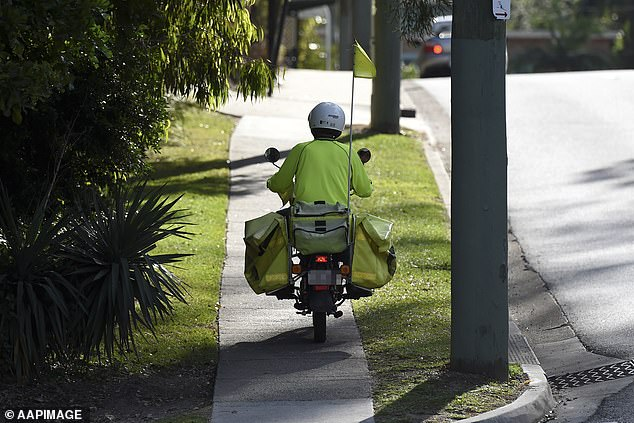 Australia Post confirmed it only leaves a delivery collection card under special circumstances (pictured, stock image)