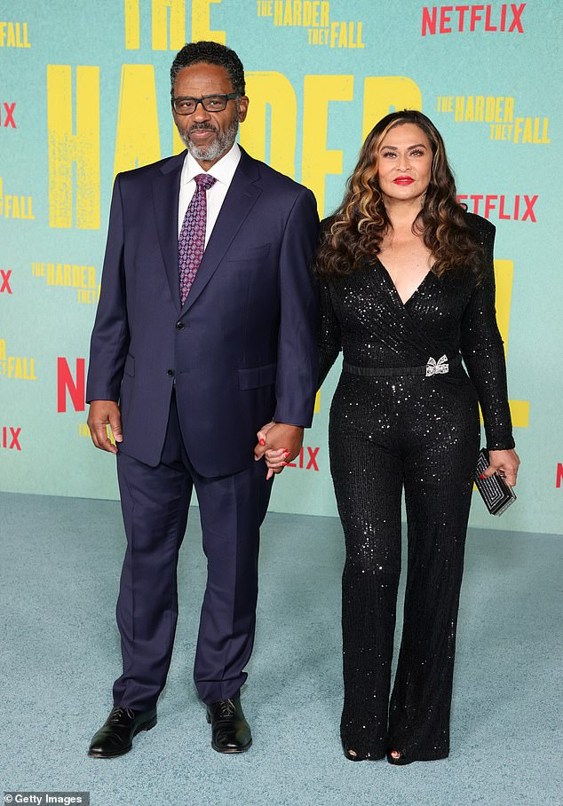 In-laws:While his wife Beyonce wasn't at the premiere, he was joined by his in-laws, Beyonce's parents Richard Lawson and Tina Knowles
