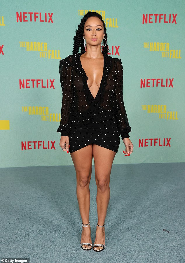 Simply Breathtaking: Draya Michele turned heads in a very low number at the Los Angeles premiere of The Harder They Fall in Los Angeles on Wednesday