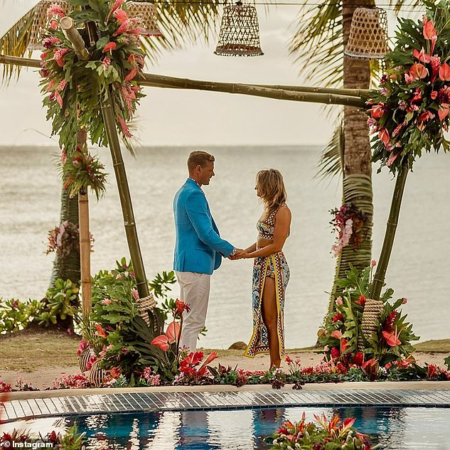 Love:The couple found love on last year's season of Bachelor in Paradise, with Alisha relocating to Perth last year to be with Glenn