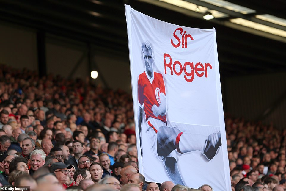 He was affectionately nicknamed him 'Sir Roger' when he was 'knighted by The Kop' after being overlooked for a knighthood