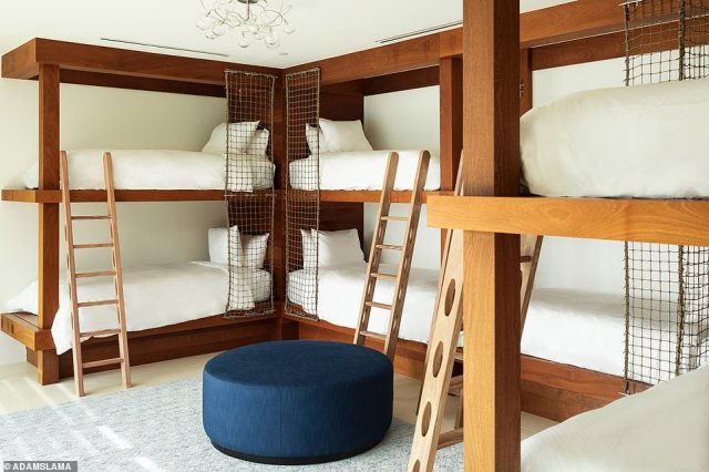 Sleeping up to 22 people, Point Estate is equipped with an eight-bunk children's dormitory and two master bedrooms