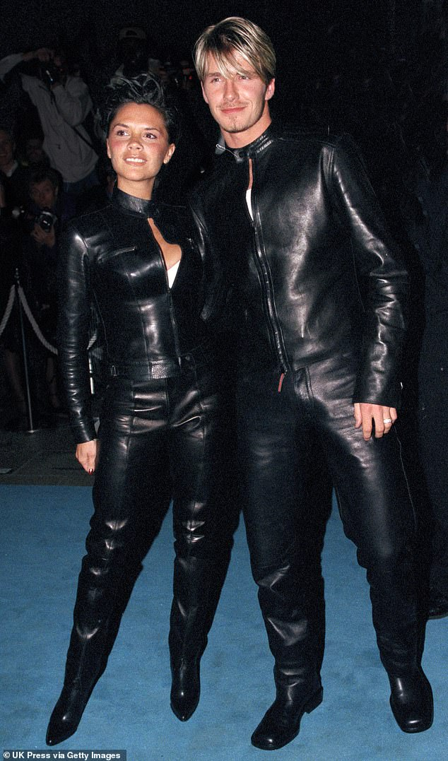 Victoria recalled: 'And we were like, ''Hey, let's wear matching leather. ...And we did,' (pictured together in 1999)