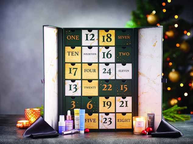 Aldi delights fans with the launch of its first luxury Advent calendar for £54.99.  Sporting goods including mascara, primer, night candle and pillow spray from its popular Lacura brand Calendar will be up for pre-order from October 24 to October 28.