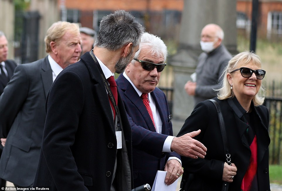 Liverpool legend and former England manager Kevin Keegan (centre) was seen chatting with somebody as he arrived
