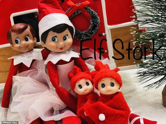 Elf on the Shelf supplies may also be affected, with one million of the toys being held in China ahead of shipping (file photo)