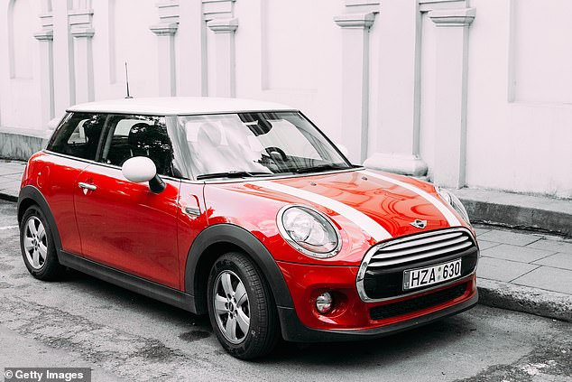Luckily, a £17,000 Mini Cooper is 12.63ft long and 5.67ft wide - the perfect fit.