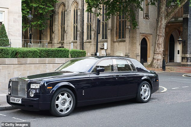 Super cars such as a £364,000 Rolls Royce Phantom are around 6.6ft wide and more than 18ft long