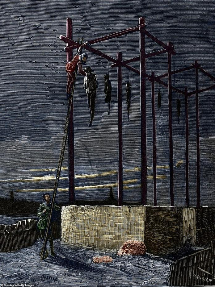 Afterwards, whilst Carrouges was hailed as hero, Le Gris's naked body was dragged through the streets in Paris to the Gibbet of Mountfaucon (depicted above) – France's main gallows