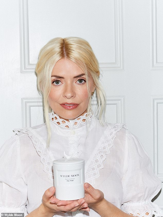 Radiant:Holly Willoughby is set to release a £65 scented candle called The Wild as the first products from her new lifestyle brand Wylde Moon prepare to be dropped online