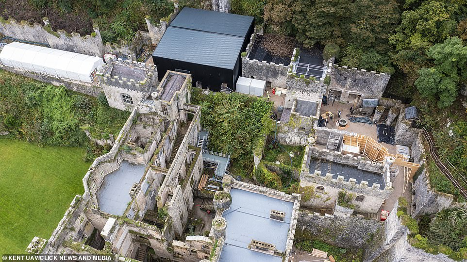 , I'm A Celebrity 2021: Aerial shots of Gwrych Castle show new areas being constructed, The Today News USA