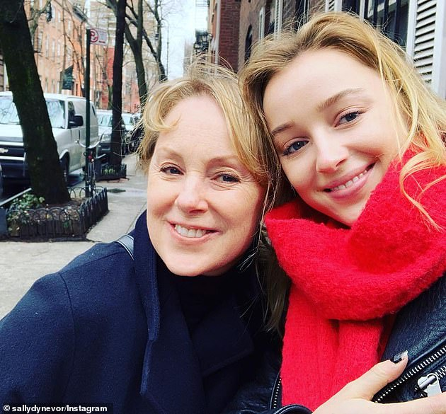 No looking back: Sally, who is the mother of Bridgerton star Phoebe Dynevor (pictured), recently said: