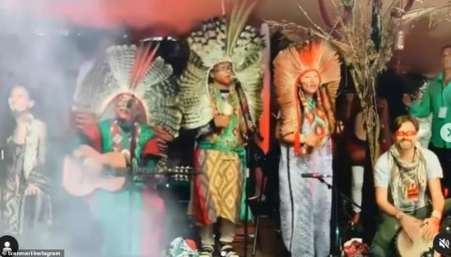 Profits from the weekender will go to supporting indigenous tribes (pictured, a group of performers at the event)