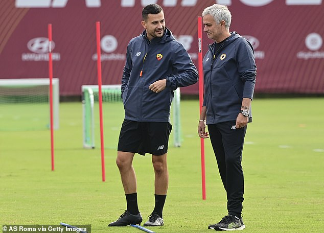 The Portuguese manager (right) only took over as manager at Serie A side Roma this summer