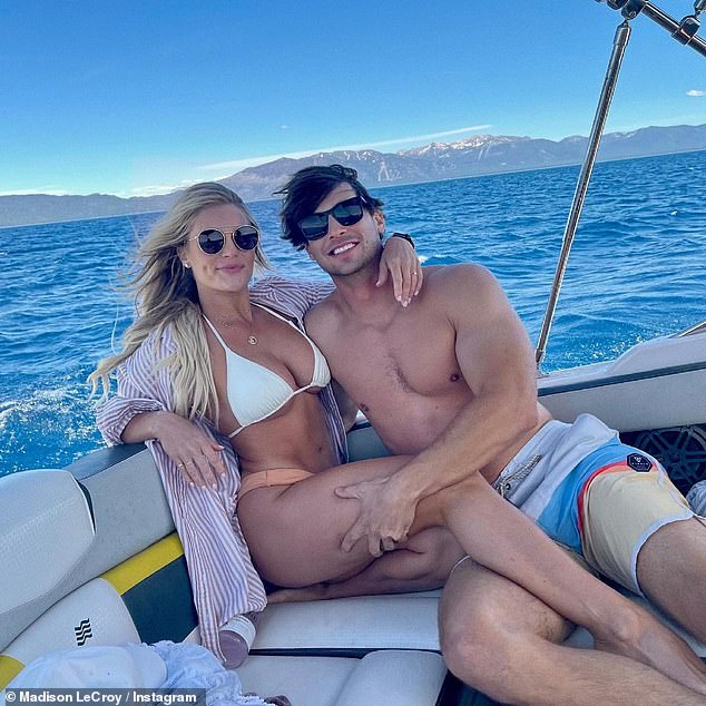 Couple: Madison went Instagram official with Brett in June, while wearing a band on her ring finger, sparking engagement rumors
