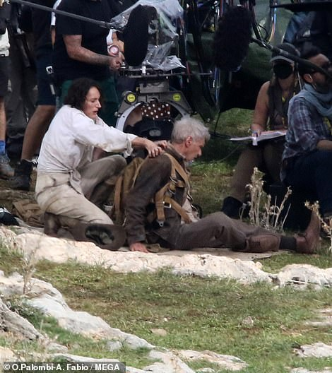 Action!  Phoebe Waller-Bridge has finally been spied on filming scenes for the upcoming Indiana Jones 5, with her co-star and lead man Harrison Ford