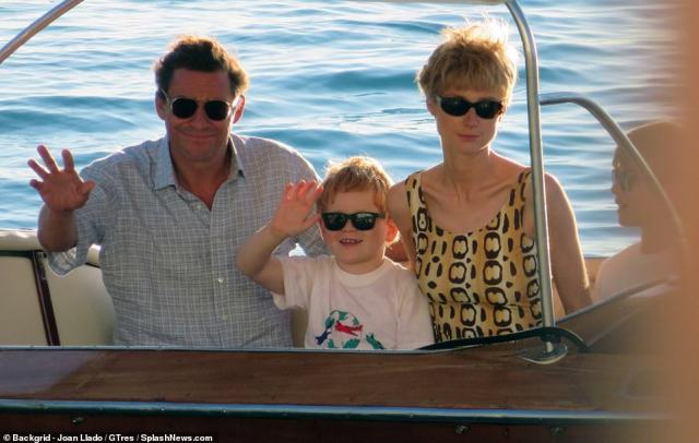The breakdown of Charles and Diana¿s relationship will be a central part of the new series. Pictured, Dominic and Elizabeth withTimothee and Teddy
