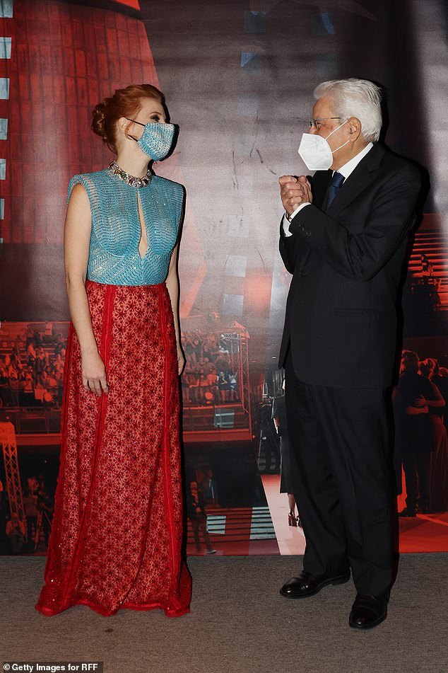 Premiere: Jessica spoke with the President of the Italian Republic, Sergio Mattarella