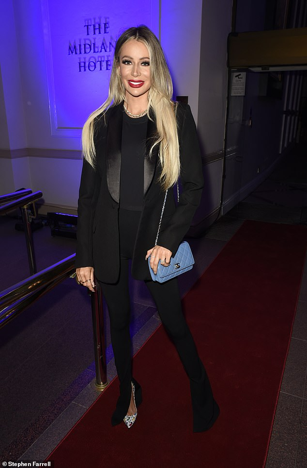Wow;  Olivia Attwood looked stylish as she attended a glittering event at The Midland Hotel in Manchester on Thursday