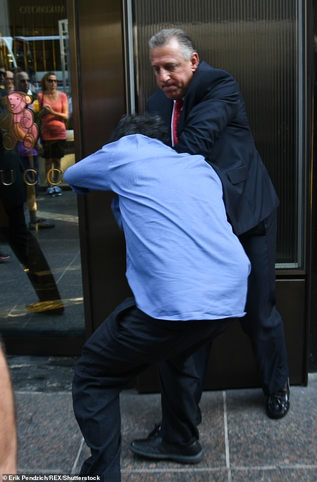 Images from outside Trump Tower that day show Schiller in a physical tussle with Galicia. The plaintiffs are allegingTrump¿s security guards assaulted them and infringed on their First Amendment freedoms
