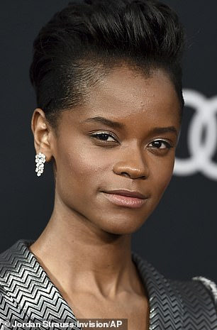 Black Panther star Letitia Wright is seen above in 2019