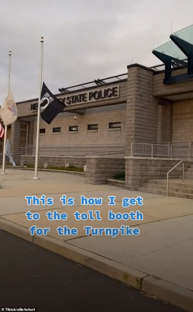 Highway home: Tennille arrives at the New Jersey State Police building in Newark, New Jersey, where I-78 meets the New Jersey Turnpike (I-95)