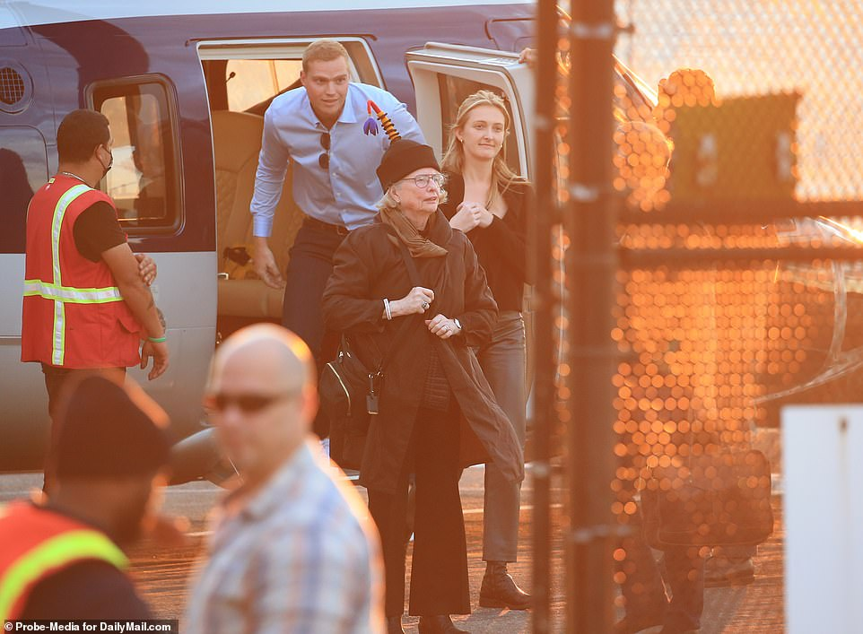 , Beaming father of the bride Bill Gates and his stepmother arrive in New York City by helicopter, The Today News USA