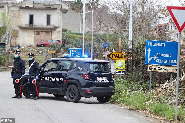Colonel Nicola Candido said the man's family 'contacted the British police and the National Crime Agency, who in turn contacted the carabinieri [Italian police]' (file photo)