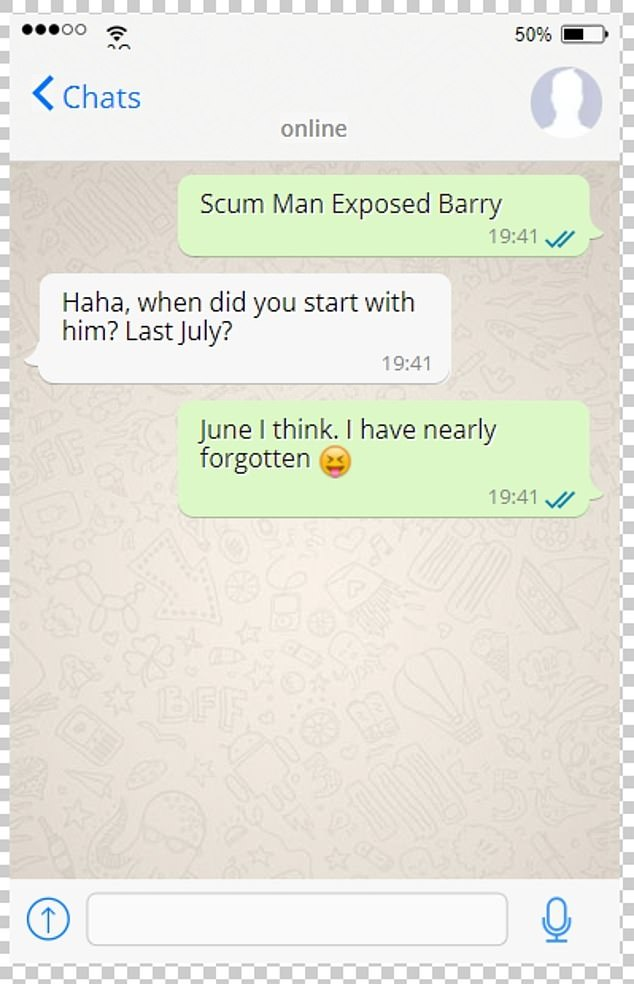 A Chinese-language WeChat group was told 'Barry' was scum