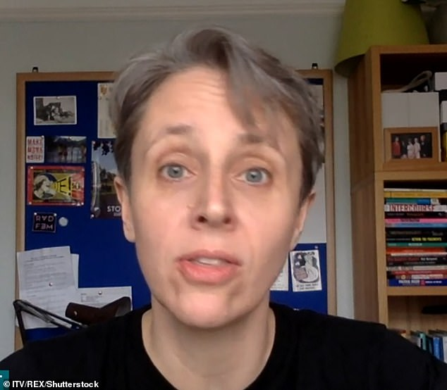 Students who are demonstrating to demand the resignation of lecturer Kathleen Stock (pictured) have defended their decision to remain mostly anonymous