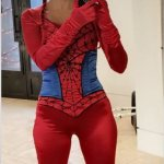 Kourtney Kardashian shares throwback photo dressed up as Spider-Man… as she posts from her night out💥👩💥💥👩💥