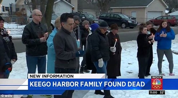 Neighbors took part in a candlelight vigil for the family after learning about the triple murder-suicide