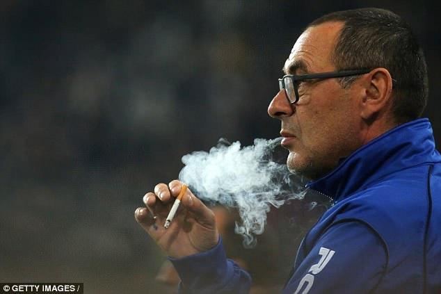 Image result for sarri smoking