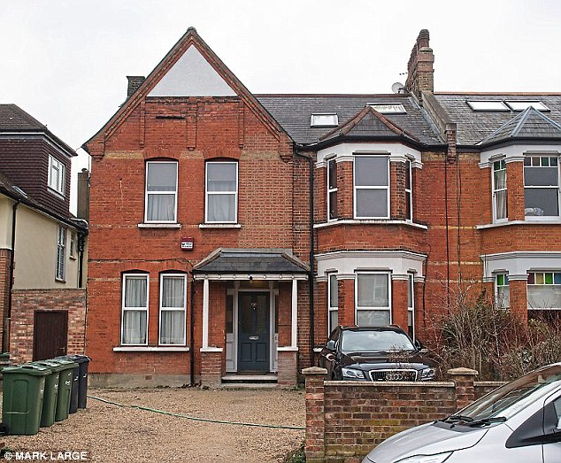 The former home of Ejiofor in West Norwood, a well-to-do area but in 1988, his father was killed in a lorry smash and he  spent weeks in a coma, aged 11