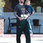 Doting Dad: Adam Levine and Daughter in Beverly Hills