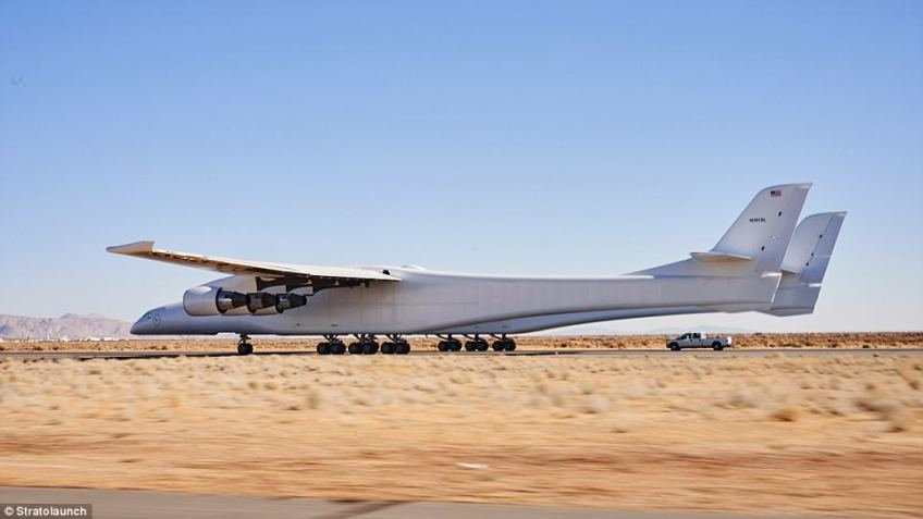 Eventually, the aircraft will be used to transport rockets carrying satellites and people into the Earth's upper atmosphere, where they will blast off into space. At the 34th Space Symposium in Colorado, Stratolaunch revealed that it hoping to conduct the monster plane's first flight this summer.