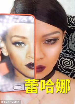A Chinese Makeup Artist Transforms Herself Into Rihanna As She Posts S Online