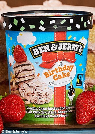 Ice Cream Fans Go Wild For Ben Jerry S Birthday Cake Daily Mail Online