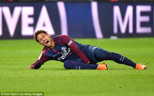 Neymar suffered a broken foot and sprained ankle during Sunday's 3-0  win over Marseille
