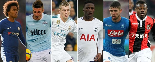 Which midfielders are Manchester United looking to sign?