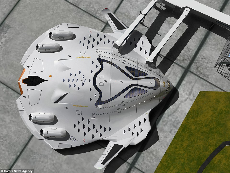 The designs feature a CO2 cleaning system, adding to the environmental benefits of the craft. An internal AI system would optimize the craft's functions, while plasma actuators control the airflow to the wings and over the fuselage