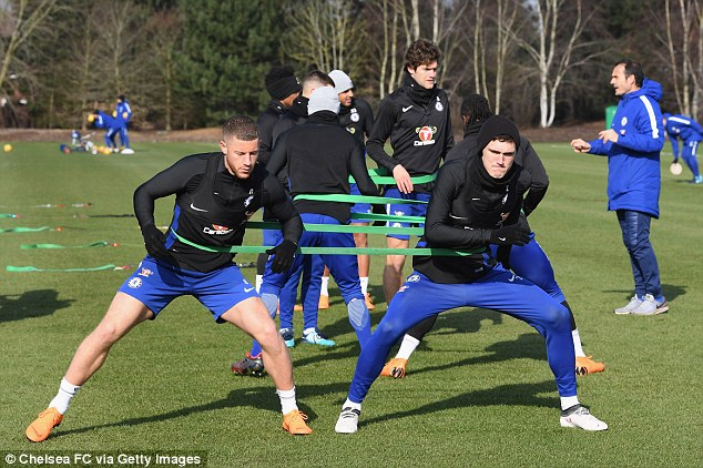 Ross Barkley (left) could return for Chelsea after injury to face City on Sunday