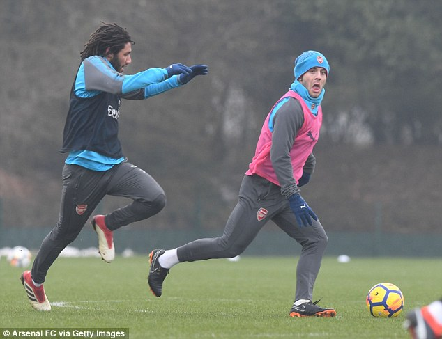 Wilshere will hope to feature against Brighton after recovering from a minor ankle injury