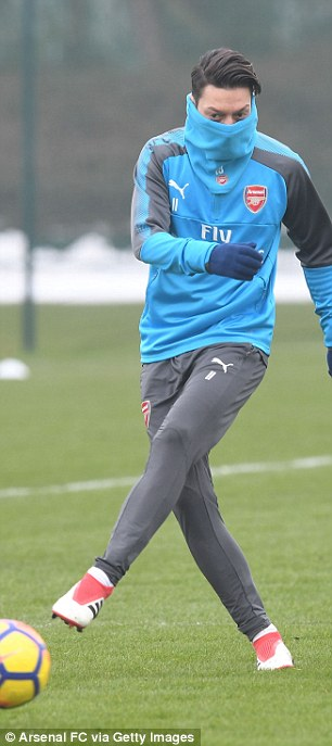 Mesut Ozil will be hoping for an improved performance against Brighton