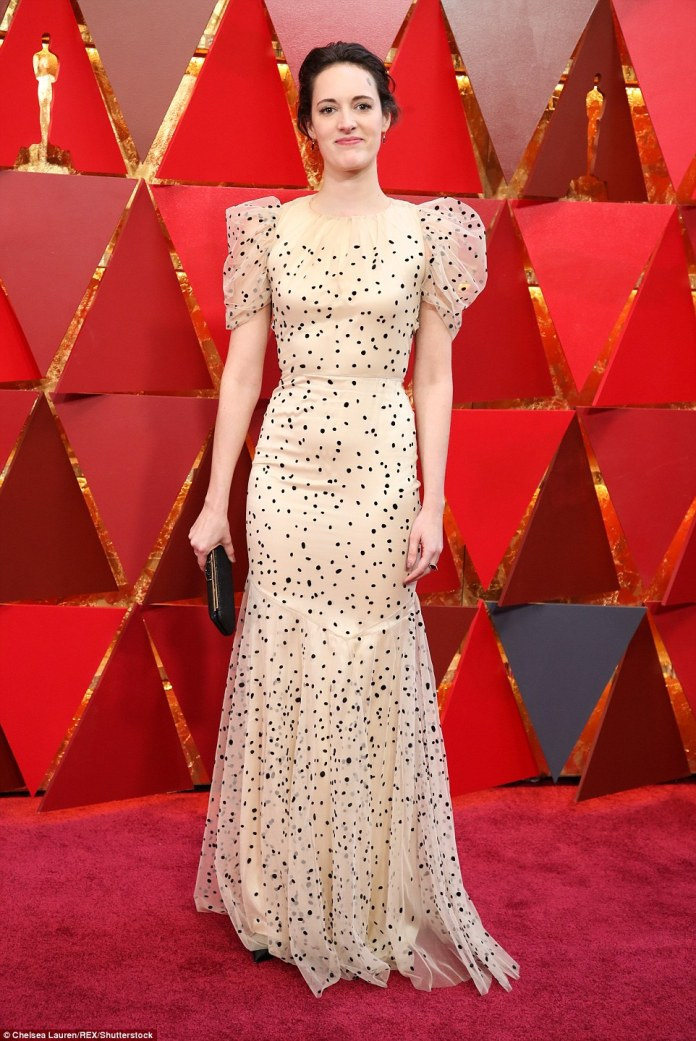 Patterned vibe: Phoebe Waller-Bridge chose a polka dot gown by Vionnet from their Fall 2018